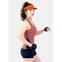 Bộ tập thể thao nữ quần đùi áo 3 lỗ phối màu dọc bên hông