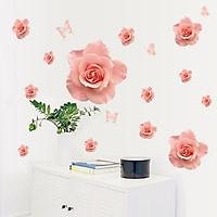 Decal dán tường Nụ hồng mong manh trang trí phòng khách,phòng ngủ đẹp