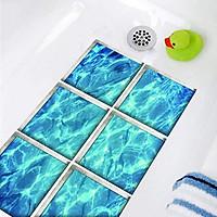 6PCS 3D Vision Waterproof Bathtub Sticker Bath Anti Slip Floor Sticker Decals UK