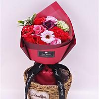Bó Hoa Hồng Sáp Flower Soap 2019-Màu Đỏ