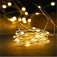 Đèn led dây trang trí kèm pin, dây đèn đom đómnhiều màu trang trí không gian phòng, quán cafe phù hợp các dịp noel, tết, lễ hội - giao màu ngẫu nhiên