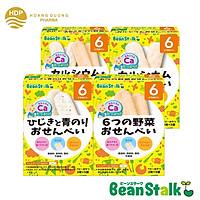Combo 4 hộp bánh gạo ăn dặm Beanstalk các vị cho bé từ 6 tháng tuổi
