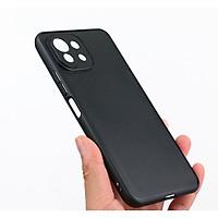 Ốp lưng silicon dẻo màu đen bảo vệ camera cho Xiaomi Mi 11 Lite - Hàng Nhập Khẩu