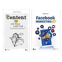Combo 2 Cuốn Sách Marketing - Bán hàng Hay : Content Hay Nói Thay Nước Bọt + Facebook Marketing 4.0 (Tặng kèm Bookmark thiết kế)