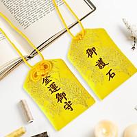 Túi gấm Omamori tiền tài vàng có kèm túi chống nước Túi Phước May Mắn dây treo trang trí