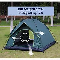 Lều cắm trại 2 4 6 người với khung siêu cứng chắc chắn cùng 2 cửa 2 lớp chống nắng hiệu quả loại tự bung 5s