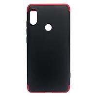 Ốp Lưng 360 Độ Dành Cho Xiaomi Redmi Note 6 Pro - Đen Đỏ