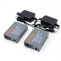 Bộ chuyển đổi quang điện 100MB hãng Netlink,1 sợi quang 25Km Single mode HTB 3100 AB - Hàng nhập khẩu