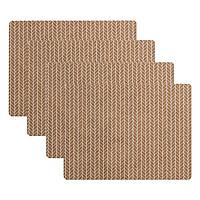 Bộ 4 Tấm Lót Bàn Ăn JYSK Vật Liệu Tự Nhiên Kastanj (33 x 44 cm)