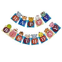 DÂY TREO SINH NHẬT HAPPY BIRTHDAY THÚ RỪNG HÌNH VUÔNG