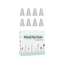 Hộp 8 Đầu Bút Silicone PC Bảo Vệ Cho Apple Pencil 1 / Apple Pencil 2