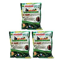 Combo 3 gói Chế phẩm vi sinh Trichoderma TRIBAC. Nấm Đối Kháng cực mạnh. Ngăn chặn tuyến trùng, nấm bệnh gây vàng lá thối rễ. Ủ phân chuồng hoai mục