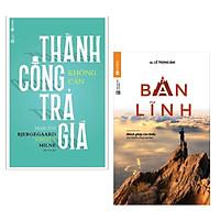 Combo 2 Cuốn Sách Tư Duy - Kỹ Năng Sống: Thành Công Không Cần Trả Giá + Bản Lĩnh / Bộ Những Cuốn Sách Tư Duy Hay Nhất - Tặng Kèm Bookmark Happy Life