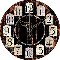 Đồng hồ treo tường Vintage Phong cách Châu Âu size to 30cm DH32