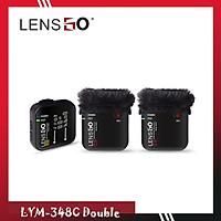 Microphone Lensgo LYM-348C Double 1V2 2 phát 1 thu - Hàng Chính Hãng