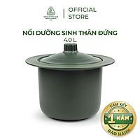Nồi sứ dưỡng sinh Minh Long thân đứng 4.0 L + nắp dùng cho bếp gas, bếp hồng ngoại