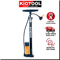 Bơm xe đạp xe máy Kiotool chuyên dụng ống to nhanh đầy hơi bơm nhẹ  có đầy đủ phụ kiện bơm bóng đá thú nhún bơm phao bơi