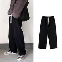Quần  dài Black Pants, quần nỉ nam nữ Unisex dáng xuông