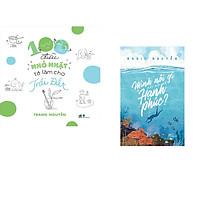 Combo 2 cuốn sách: 100 điều nhỏ nhặt tớ làm cho trái đất + Mình nói gì khi nói về hạnh phúc?