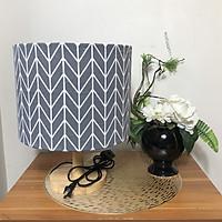 Đèn ngủ DB-B05 MŨI TÊN đèn bàn trang trí decor phòng ngủ chân gỗ dễ thương, chao vải canvas giá rẻ