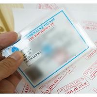Combo 5 vỏ bọc thẻ bảo hiểm y tế dẻo trong có nắp đậy và không cần ép