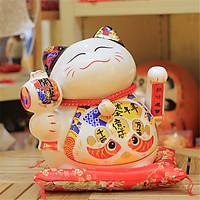 Mèo vẫy tay may mắn Nhật bản Maneki neko-Niên niên hữu dư SW 9406-21cm