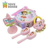 Set đồ chơi Xúc xắc, lục lạc, kèn, trống Toyshouse dành cho bé từ sơ sinh TH1220-733A-53 - giúp bé phát triển thị giác, thính