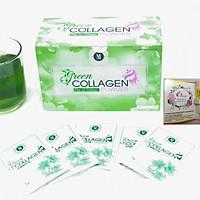 Thực Phẩm Bảo Vệ Sức Khỏe Diệp lục Collagen (Green Collagen Powder) Mẫu mới có màng co + Tặng kèm mẫu test Nước hoa Charme Queen - đẹp da, chống lão hóa, cân bằng nội tiết