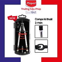 MAPED - Hộp Compa kỹ thuật Metal Bow (chì gỗ, ruột chì) (vẽ vòng tròn 30cm) - 1 hộp