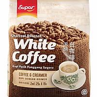 Cà phê trắng Super White Coffee 2 in 1 - Coffee and Creamer (Cà phê và kem)