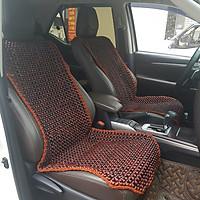 Đệm hạt gỗ tựa lưng massage ghế ô tô, kiêm dải lót hàng ghế sau 100% gỗ Cẩm Lai tự nhiên - Dạng đan kết diềm mép cao cấp - Kích thước (D X R): 1,29 X  0,48 (M) - Trọng lượng: 3,1Kg