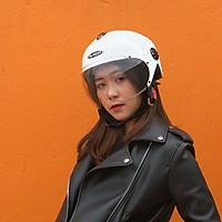 Mũ bảo hiểm Sunda 137A - Màu trắng bóng
