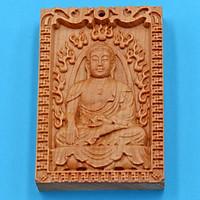 Mặt gỗ ngọc am Phật A di đà MG17