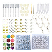 87pcs Epoxy Resin Mold Silicone kit and Tools Keychain Resin Molds Hanging Decor Molds Molds for DIY Crafts Making