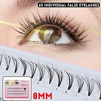 8mm 60 Individual False Eyelashes Nude Makeup Slender Hair Planting Grafted