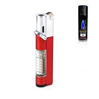 Hộp Qụet Bật Lửa Khò 1 Tia AM7108 Phiên Bản Mới 2020 Thiết Kế Đẹp Độc Lạ Có Chốt Rảnh Tay An Toàn ( Giao màu ngẫu nhiên ) + Tặng bình gas chuyên dụng cho bật lửa