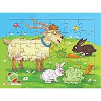 Xếp hình Tia Sáng Dê và thỏ  (30 Mảnh Ghép) - Tặng kèm tranh tô màu cho bé