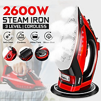 2600W 5 Gear Cordless Handheld Steam Iron Fabric Clothes Laundry Home Anti-skid