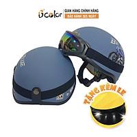 Mũ Bảo Hiểm 1/2 Họa Tiết Hình Xe Máy Kính UV Thời Trang Chính Hãng B'COLOR