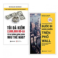 Combo 2 cuốn Tôi Đã Kiếm Được 2.000.000 Đô-La Từ Thị Trường Chứng Khoán Như Thế Nào? +Bước Đi Ngẫu Nhiên Trên Phố Wall ( Tặng kèm bookmark)