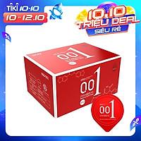 Bao cao su 0.01 OLO Passionate Factor, siêu mỏng, nhiều gel bôi trơn, truyền nhiệt tốt - Hộp 10bcs