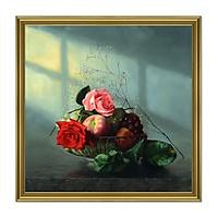 Decal dán tường khung tranh lọ hoa hoa đẹp LunaCV-0266K