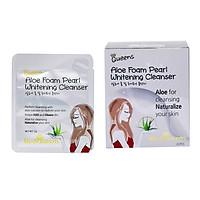 Hộp 25 gói Sữa Rửa Mặt Tinh chất Nha đam và Ngọc trai MediQueens Aloe Foam Pearl Whitening Cleanser (5g/Gói)