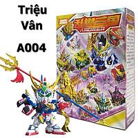 Đồ Chơi Xếp hình Gundam Triệu Tử Long - Mô Hình Lắp ghép Tam Quốc A004