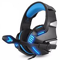 Tai Nghe Chụp Tai Có Đèn LED Và MIC Cho PC PS4 Slim Xbox One 360 NS - Xanh Dương