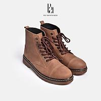 Giày Bốt Cổ Cao Da Bò Cao Cấp Đế Tăng Chiều Cao Giày Nam Công Sở Phong Cách Vintage Trẻ Trung Full Box - B21 Shoemaker