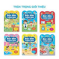 Bộ 6 cuốn 800+ Miếng bóc dán thông minh Song ngữ Việt Anh Vừa học vừa chơi Giúp bé nhanh tay nhanh mắt Phát triển khả năng tư duy sáng tạo toàn diện cho trẻ