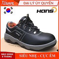 Giày bảo hộ lao động nam Hans HS60 da bò, chống nước, chống đinh, va đập, trơn trượt - Giày công trình, nhà máy, cao cấp