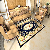 Thảm Trang Trí Phòng Khách Và Sofa Lông Ngắn TD002-  Traditional (160 x 230 cm)