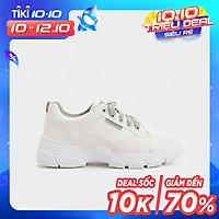Giày Thể Thao Nữ Sneaker Trơn Dây Xám 2Phân HAPAS - GSK248